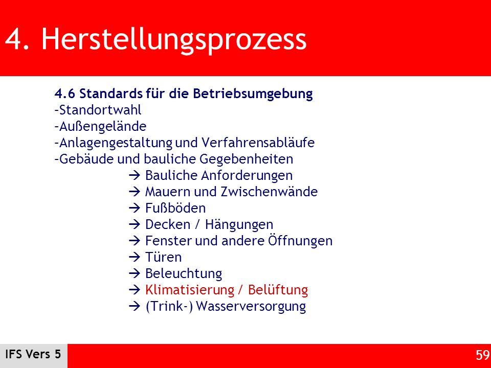 4. Herstellungsprozess 4.6 Standards für die Betriebsumgebung