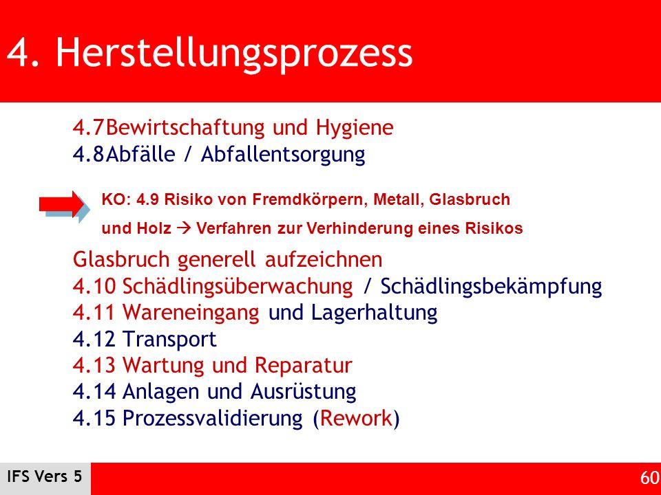4. Herstellungsprozess 4.7 Bewirtschaftung und Hygiene