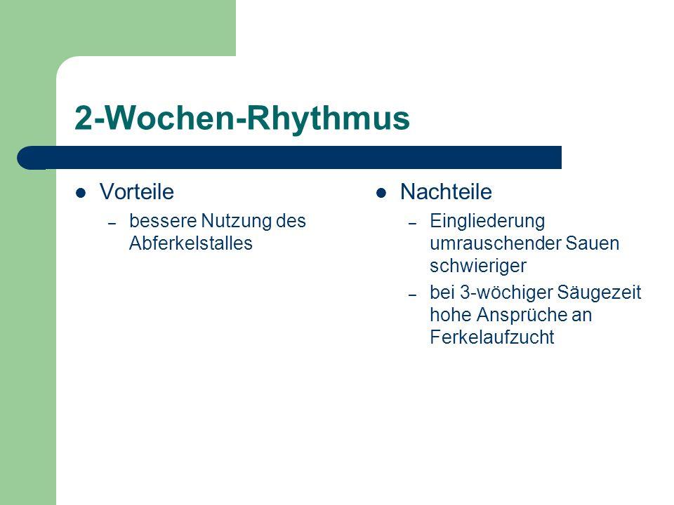 2-Wochen-Rhythmus Vorteile Nachteile