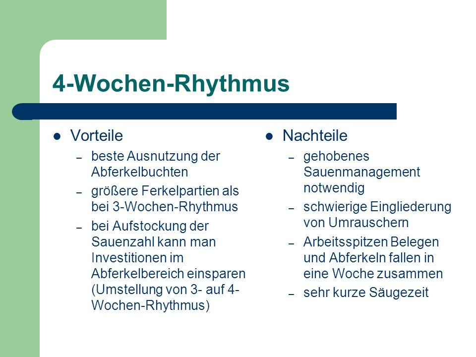 4-Wochen-Rhythmus Vorteile Nachteile