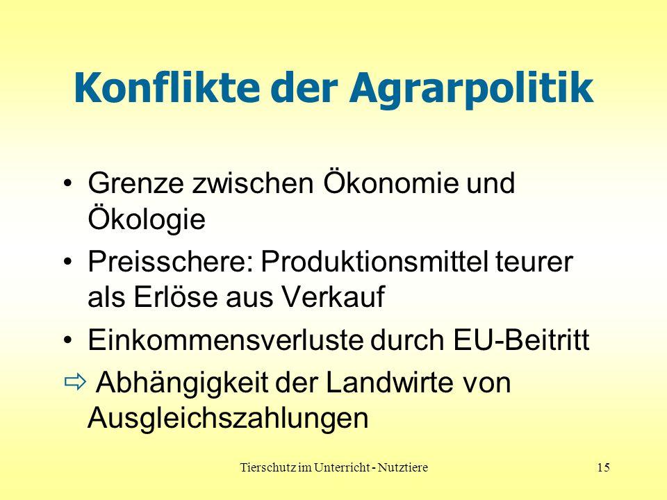 Konflikte der Agrarpolitik