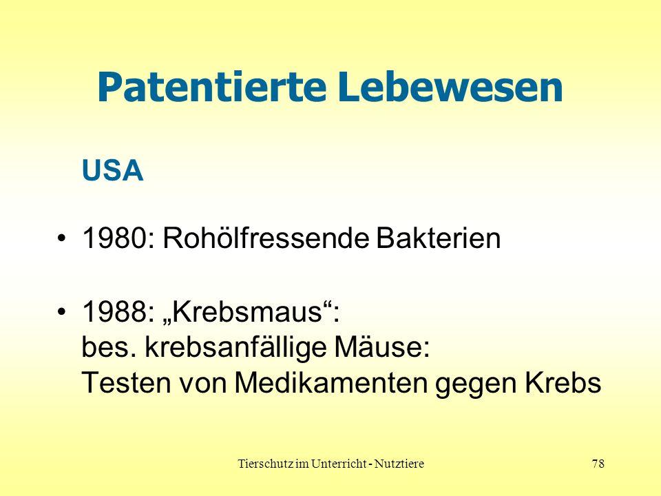 Patentierte Lebewesen