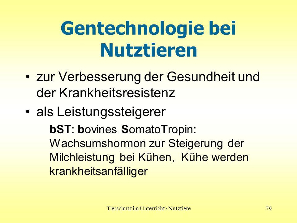 Gentechnologie bei Nutztieren