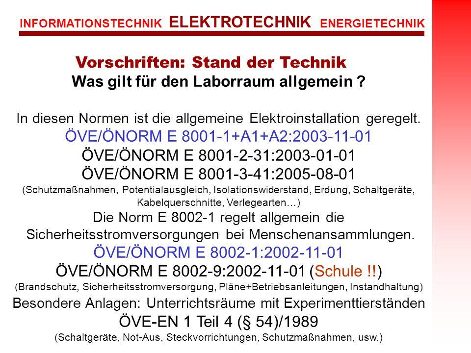 Was gilt für den Laborraum allgemein Dipl.-Ing. Hermann Binder