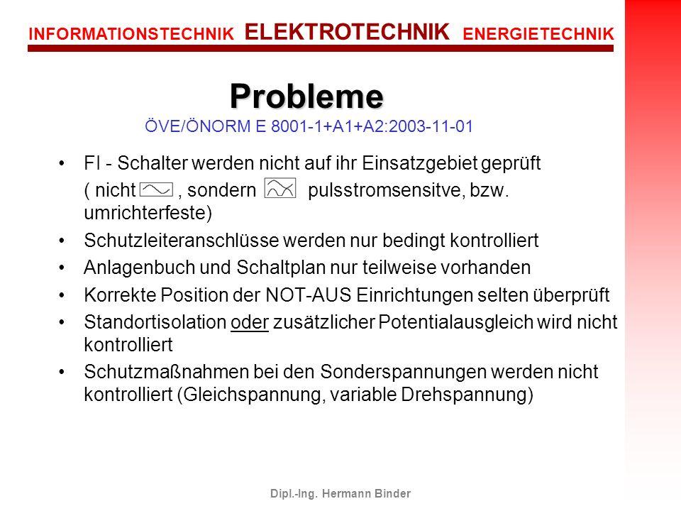 Probleme ÖVE/ÖNORM E 8001-1+A1+A2:2003-11-01
