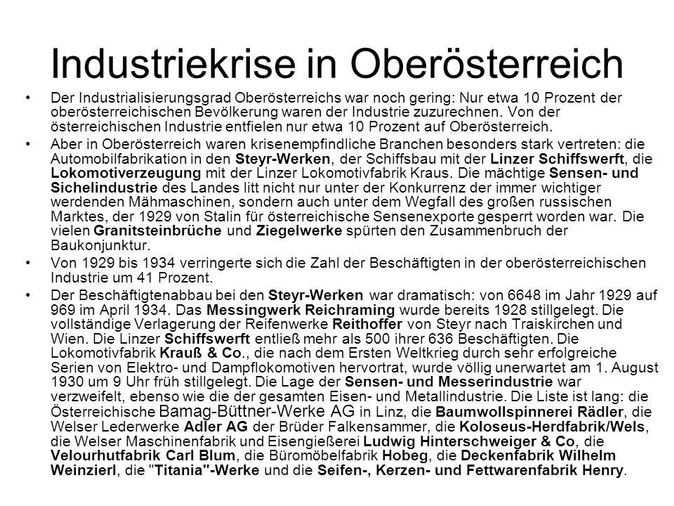 Industriekrise in Oberösterreich