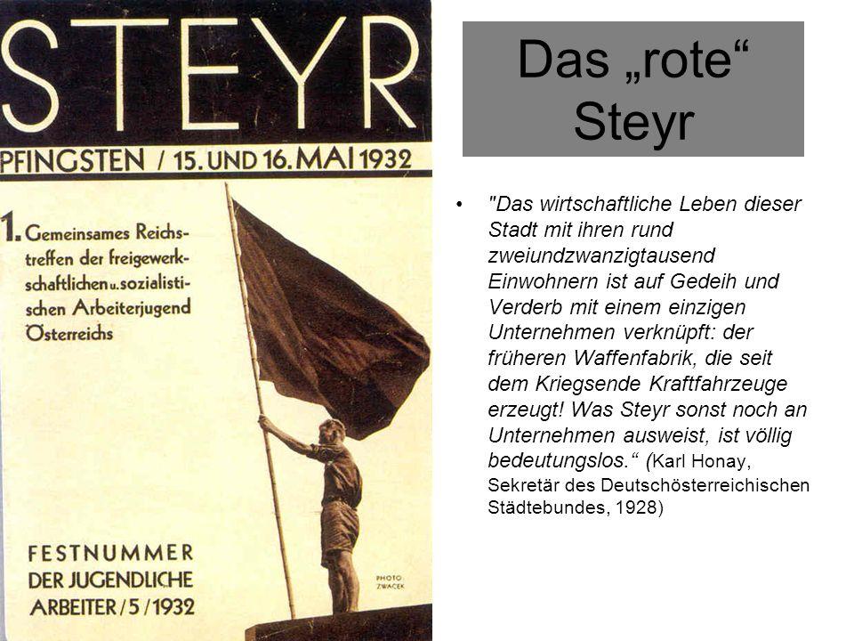 """Das """"rote Steyr"""