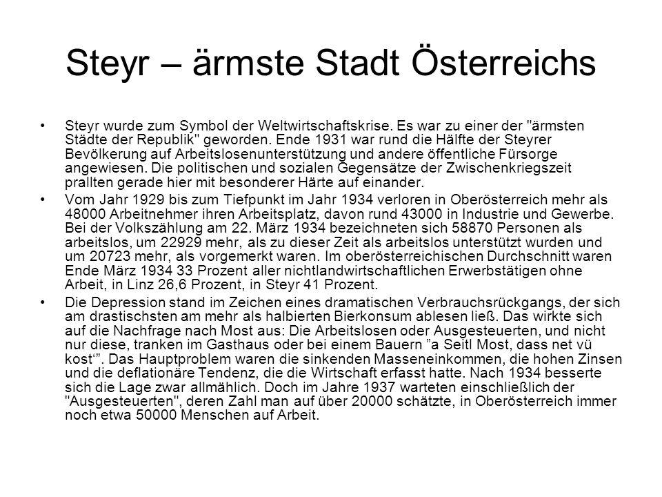 Steyr – ärmste Stadt Österreichs
