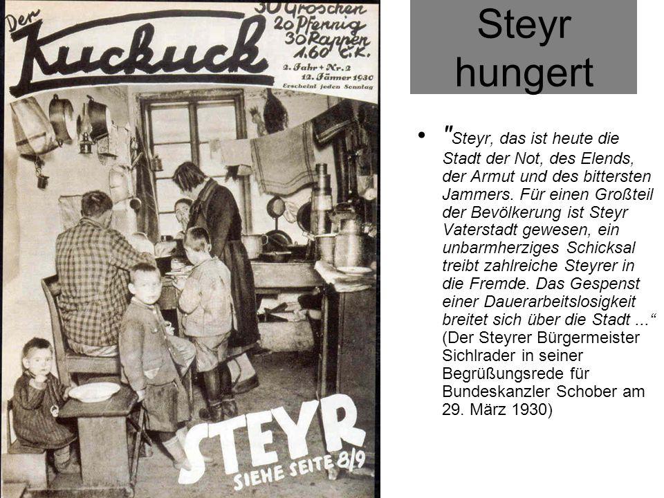 Steyr hungert