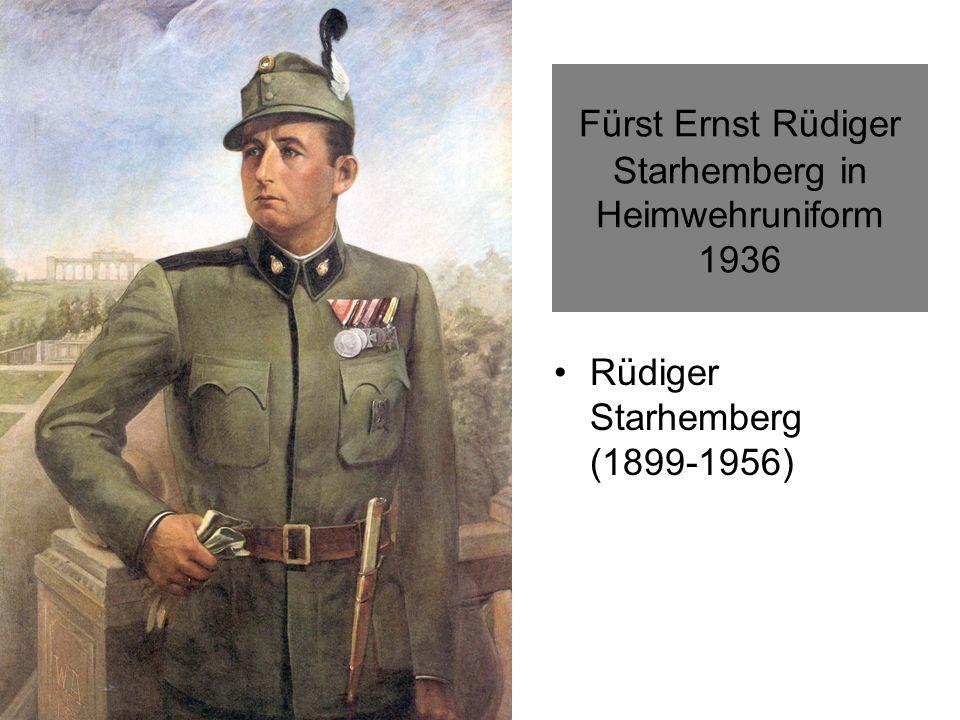 Fürst Ernst Rüdiger Starhemberg in Heimwehruniform 1936