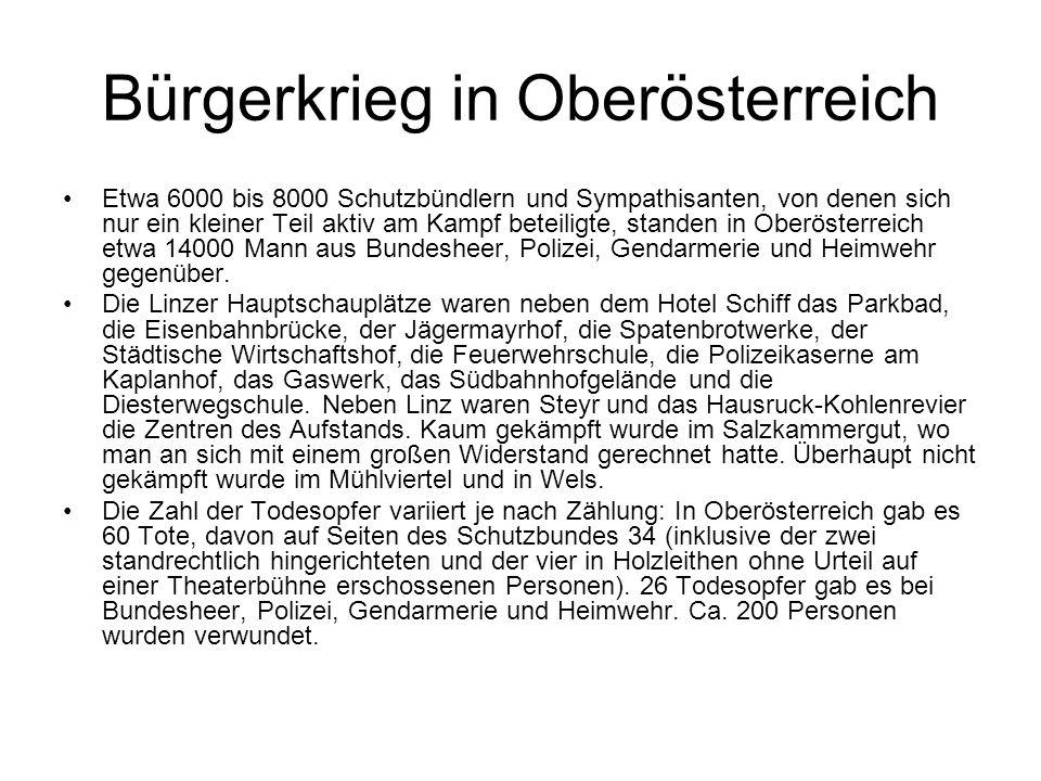Bürgerkrieg in Oberösterreich