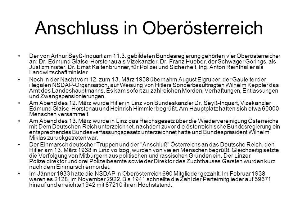 Anschluss in Oberösterreich