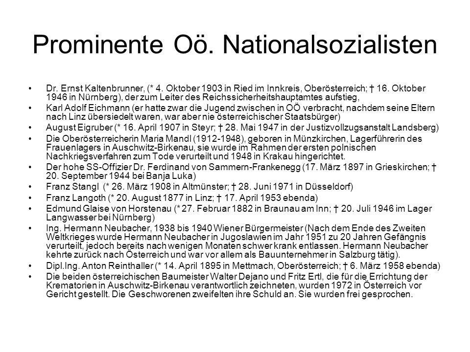 Prominente Oö. Nationalsozialisten