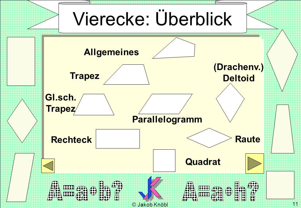 Vierecke: Überblick Allgemeines (Drachenv.) Deltoid Trapez