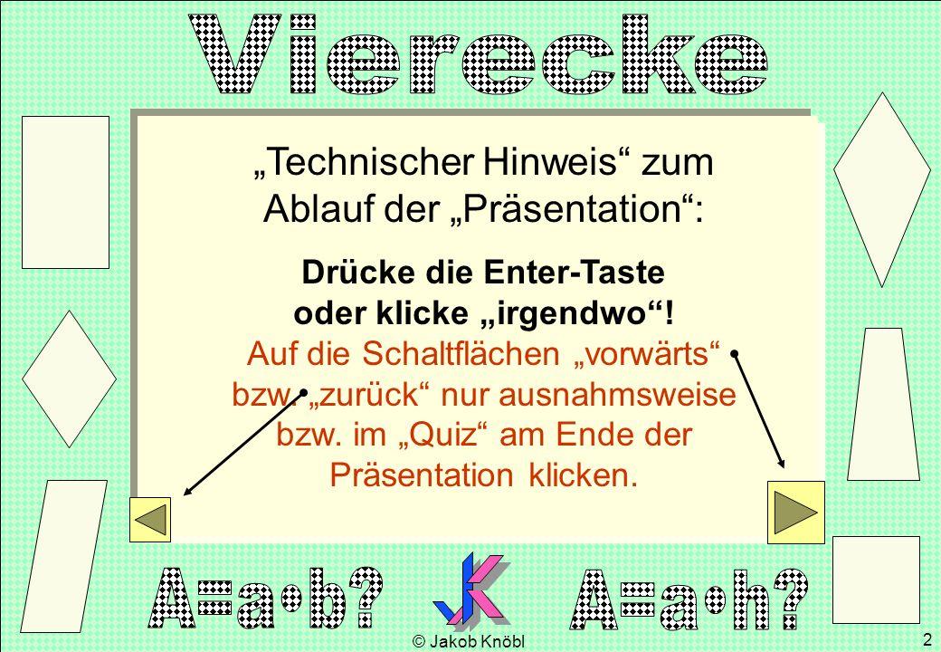 """""""Technischer Hinweis zum Ablauf der """"Präsentation :"""