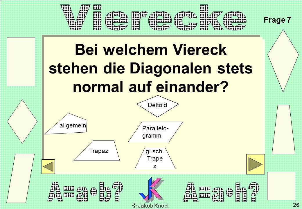 Bei welchem Viereck stehen die Diagonalen stets normal auf einander