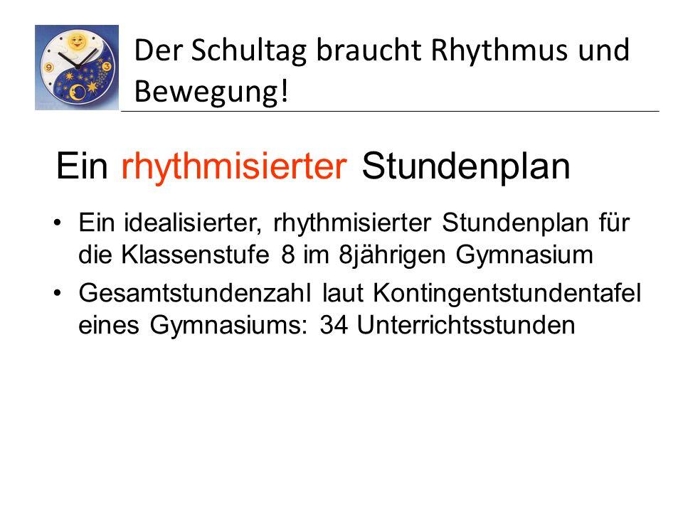 Ein rhythmisierter Stundenplan