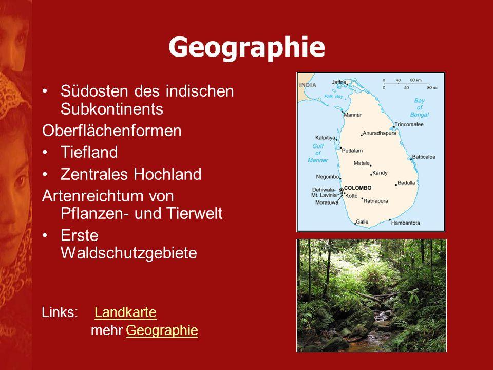 Geographie Südosten des indischen Subkontinents Oberflächenformen