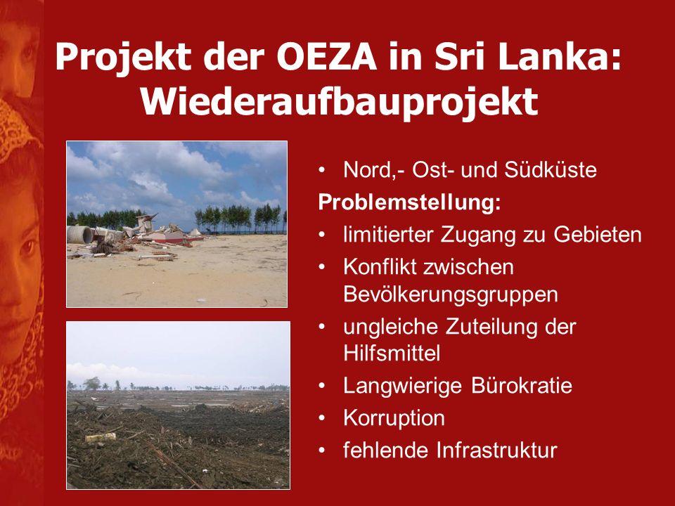 Projekt der OEZA in Sri Lanka: Wiederaufbauprojekt