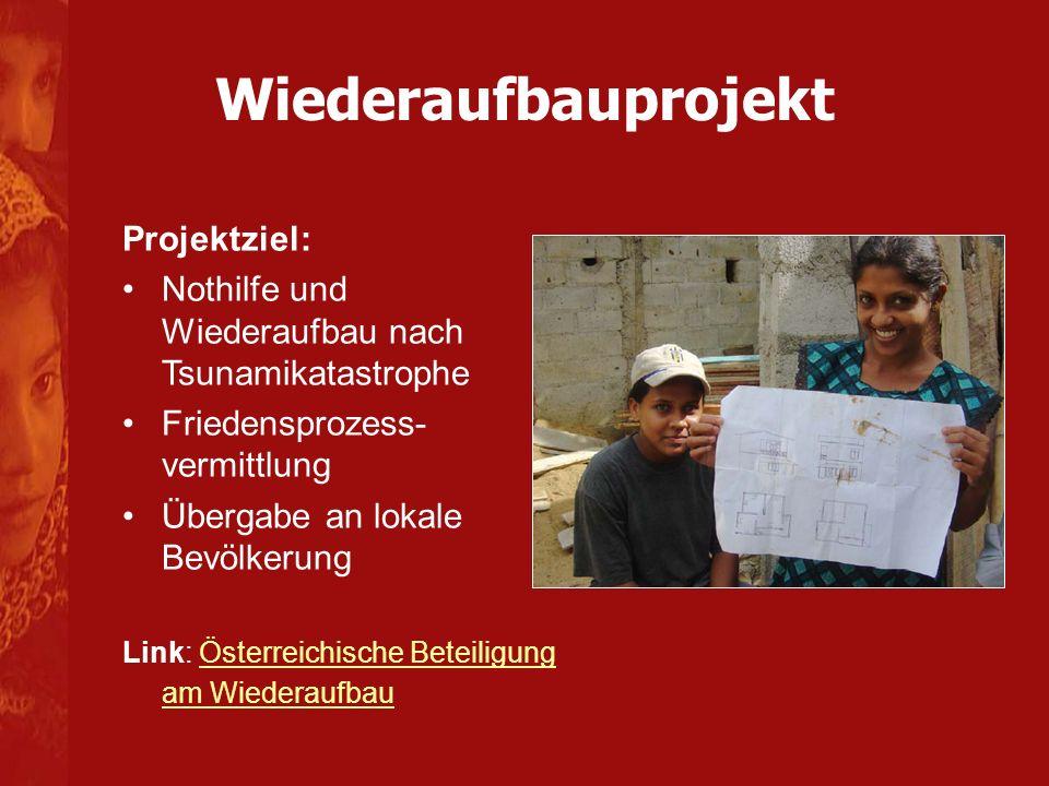 Wiederaufbauprojekt Projektziel: