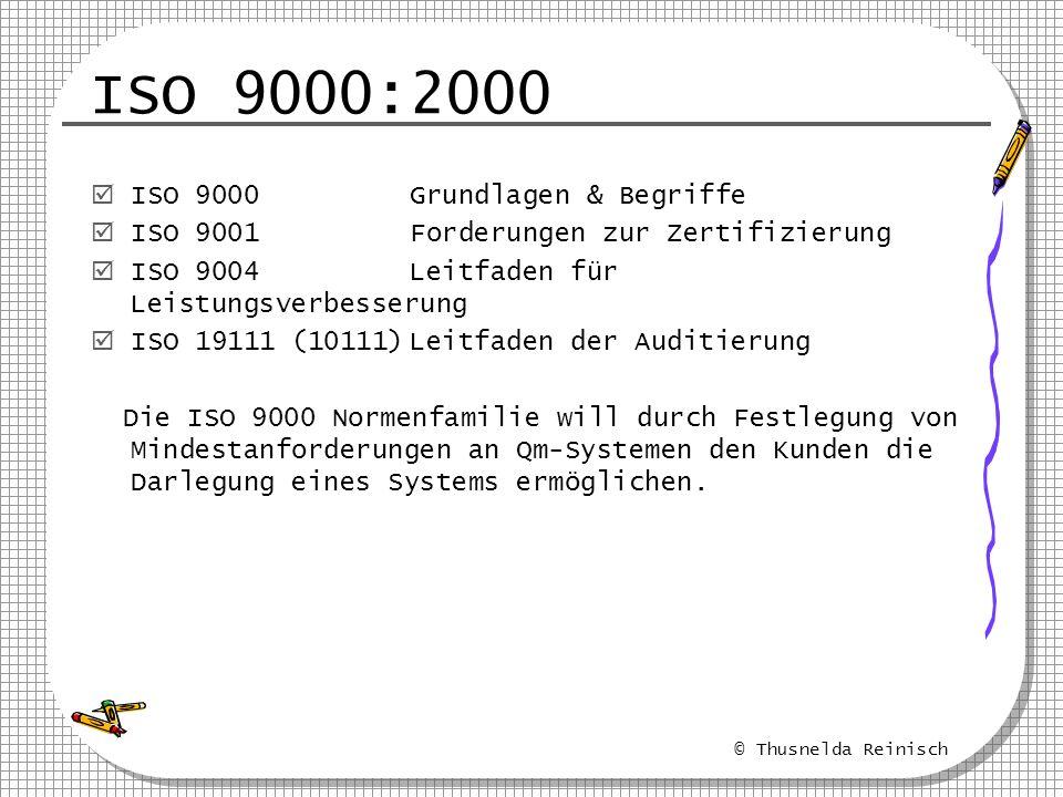 ISO 9000:2000 ISO 9000 Grundlagen & Begriffe