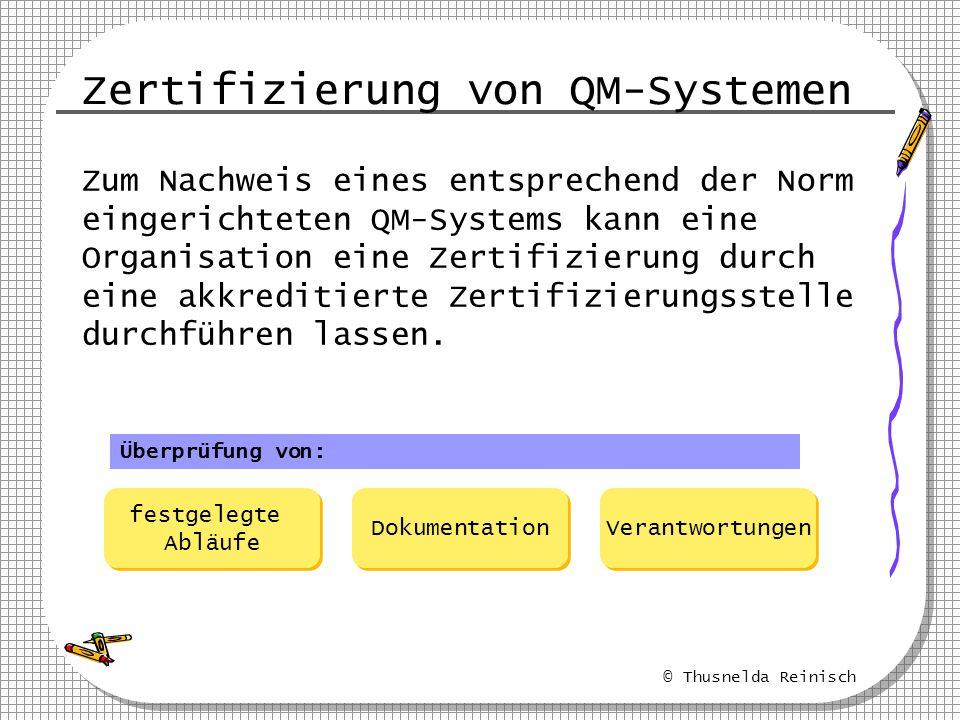 Zertifizierung von QM-Systemen