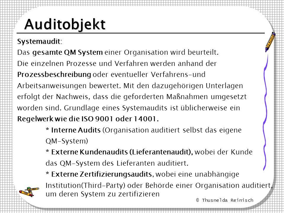 Auditobjekt Systemaudit: