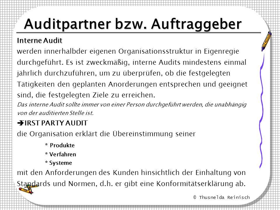 Auditpartner bzw. Auftraggeber