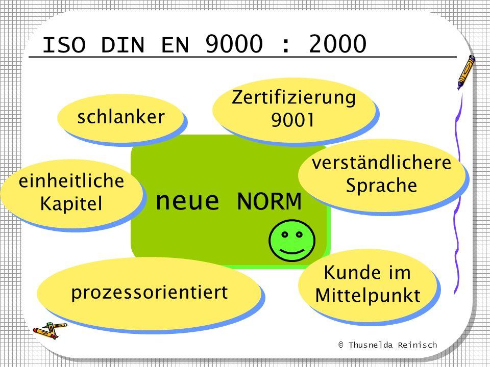neue NORM ISO DIN EN 9000 : 2000 Zertifizierung 9001 schlanker