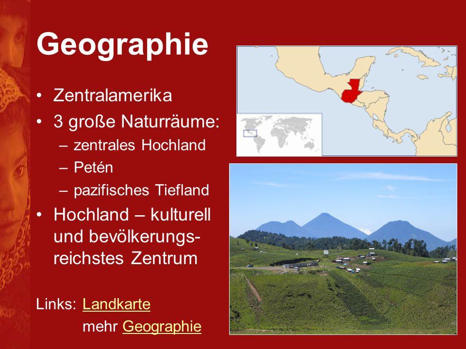 Geographie Zentralamerika 3 große Naturräume: