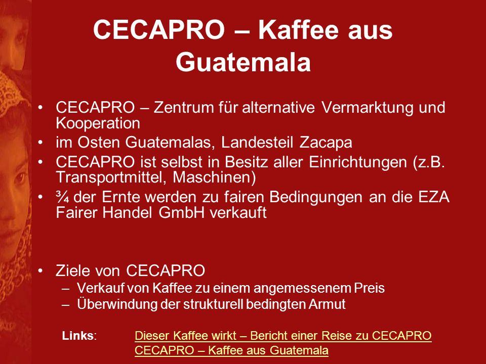 CECAPRO – Kaffee aus Guatemala