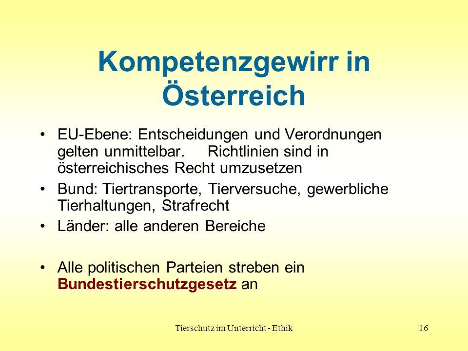 Kompetenzgewirr in Österreich