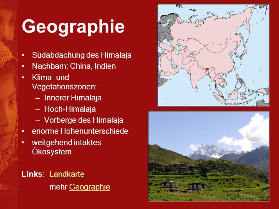 Geographie Südabdachung des Himalaja Nachbarn: China, Indien