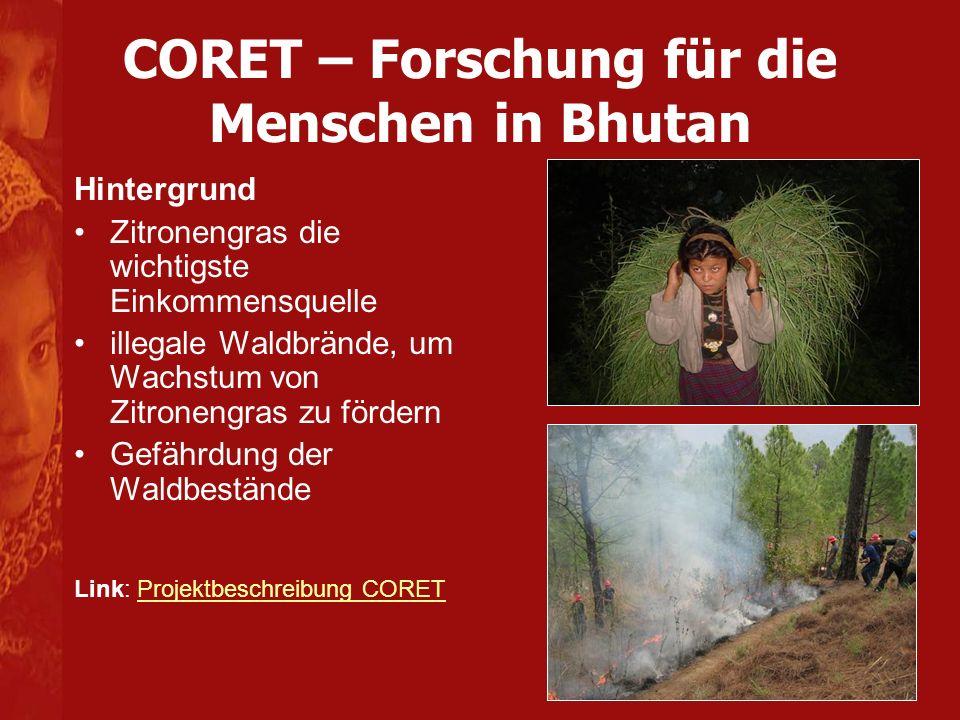CORET – Forschung für die Menschen in Bhutan