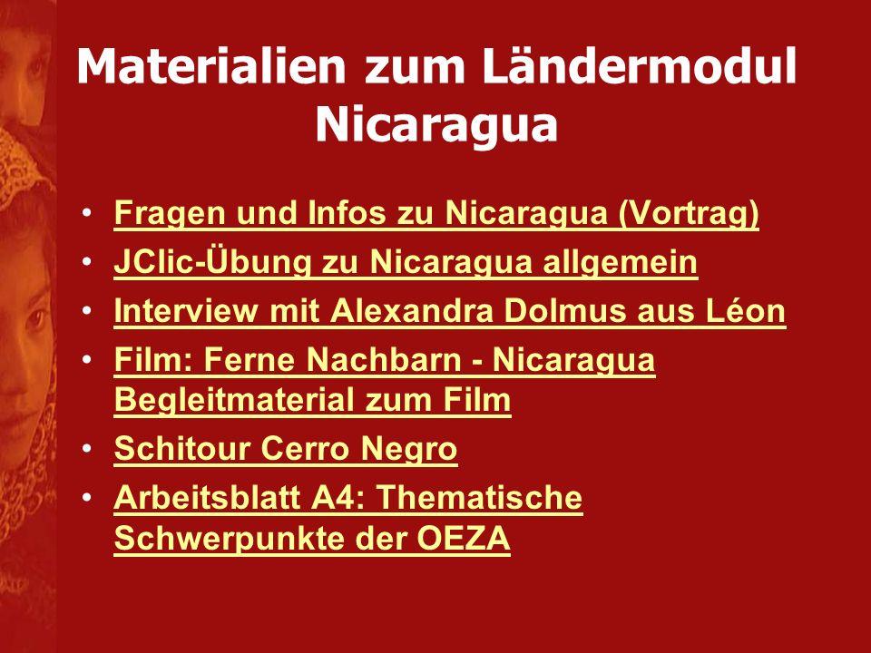 Materialien zum Ländermodul Nicaragua