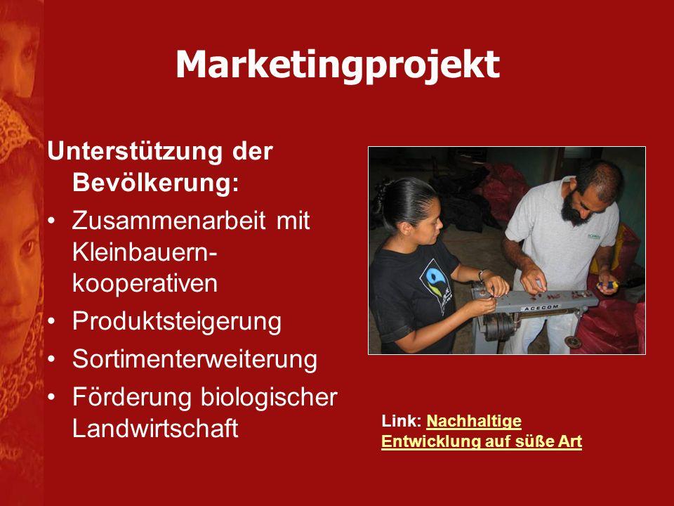 Marketingprojekt Unterstützung der Bevölkerung: