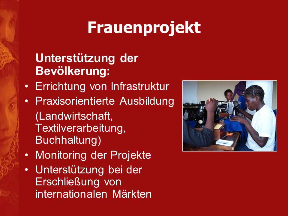 Frauenprojekt Unterstützung der Bevölkerung: