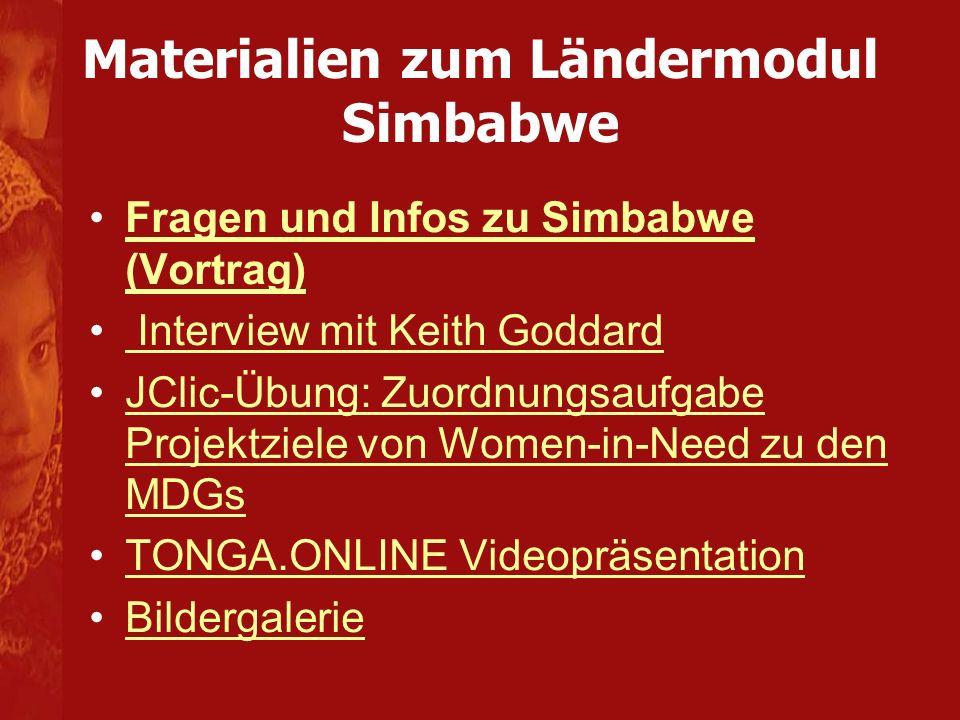 Materialien zum Ländermodul Simbabwe