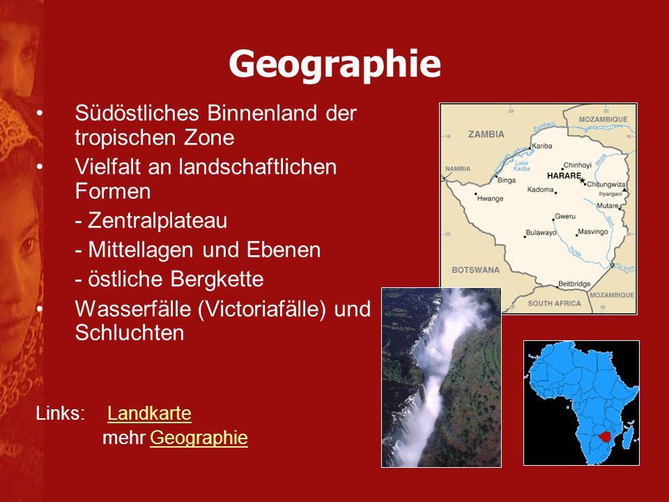Geographie Südöstliches Binnenland der tropischen Zone