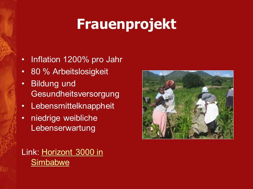 Frauenprojekt Inflation 1200% pro Jahr 80 % Arbeitslosigkeit