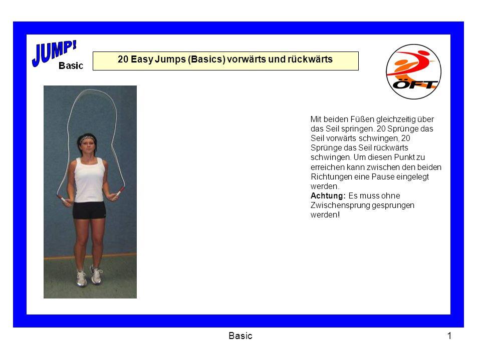 20 Easy Jumps (Basics) vorwärts und rückwärts