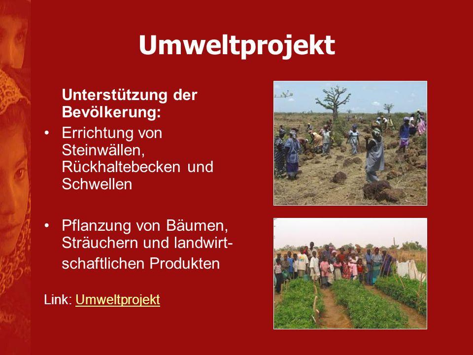 Umweltprojekt Unterstützung der Bevölkerung:
