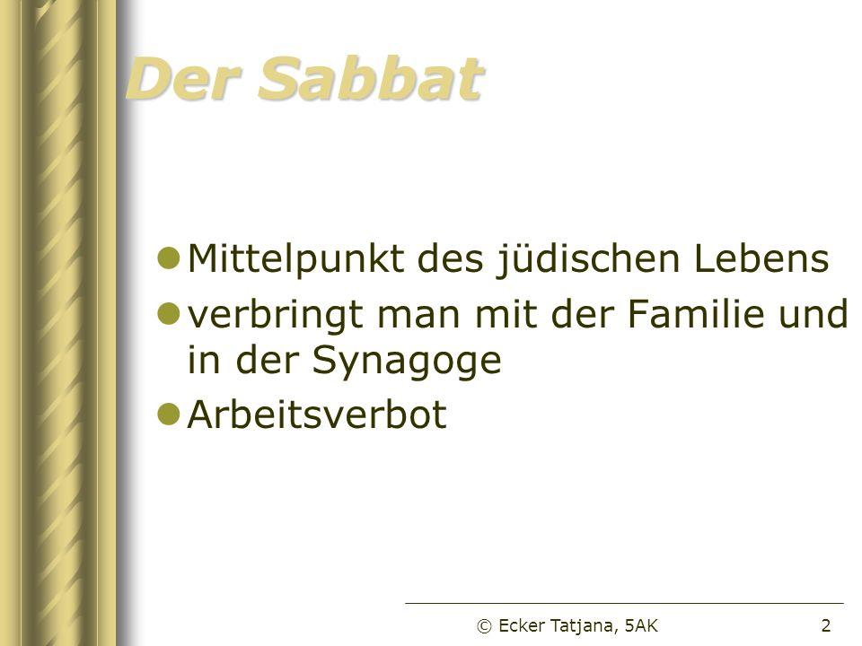Der Sabbat Mittelpunkt des jüdischen Lebens