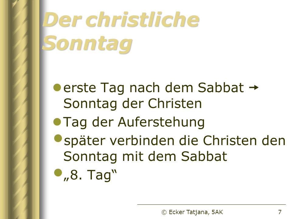 Der christliche Sonntag