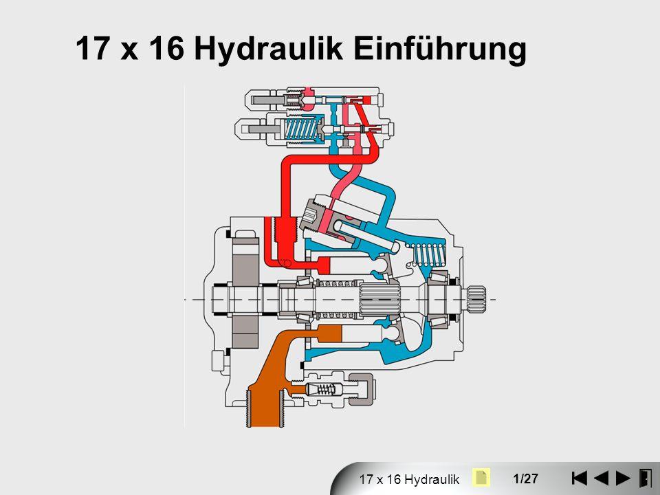 17 x 16 Hydraulik Einführung