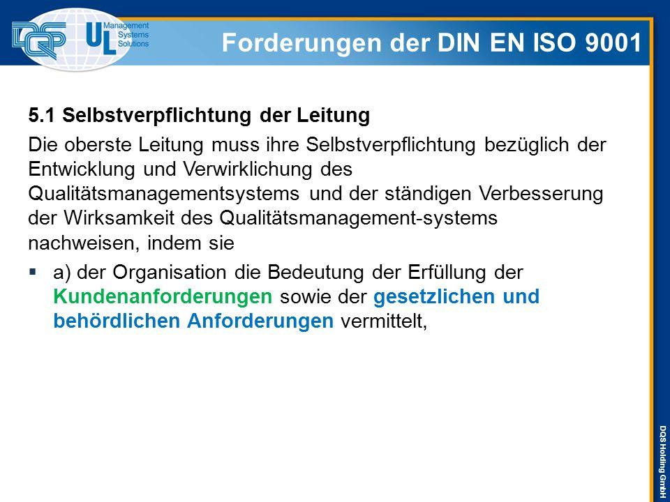 Forderungen der DIN EN ISO 9001