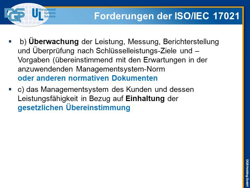 Forderungen der ISO/IEC 17021