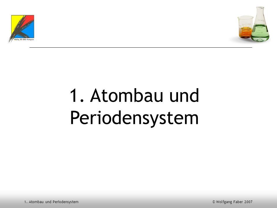 1. Atombau und Periodensystem