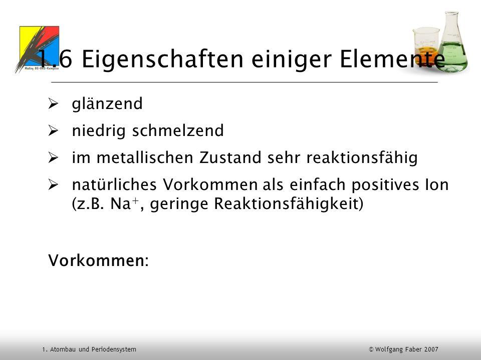 1.6 Eigenschaften einiger Elemente