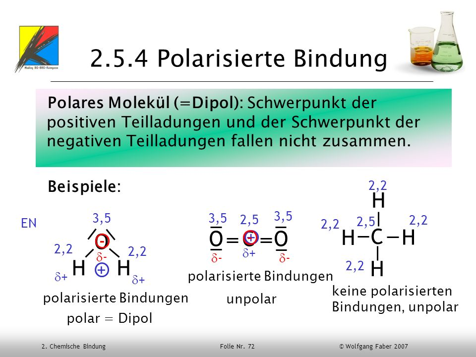 2.5.4 Polarisierte Bindung H O C O H C H O H H H + - - +